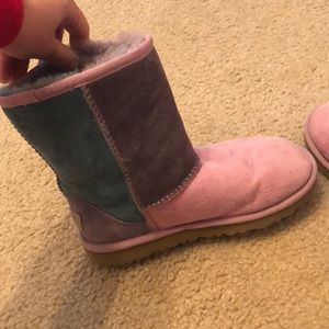 Other - Kids size 4 ugg boots in pink, green, and purple